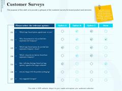 Branding Approach Marketing Strategies Customer Surveys Ppt Slides Professional PDF