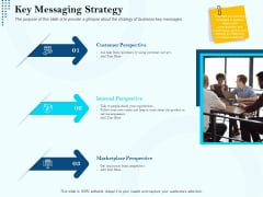 Branding Approach Marketing Strategies Key Messaging Strategy Ppt Infographic Template Files PDF