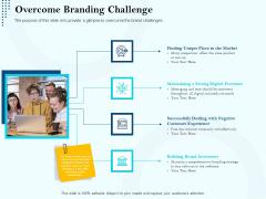 Branding Approach Marketing Strategies Overcome Branding Challenge Ppt Ideas Graphic Tips PDF