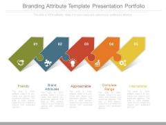 Branding Attribute Template Presentation Portfolio