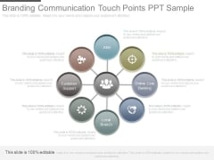 Branding Communication Touch Points Ppt Sample