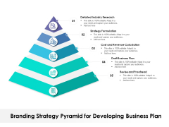 Branding Strategy Pyramid For Developing Business Plan Ppt PowerPoint Presentation File Graphics Pictures PDF