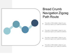 Bread Crumb Navigation Zigzag Path Route Ppt Powerpoint Presentation Pictures Templates