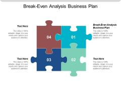 Break Even Analysis Business Plan Ppt Powerpoint Presentation Show Brochure Cpb
