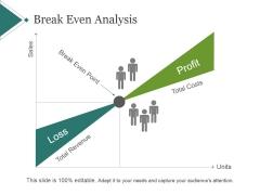 Break Even Analysis Ppt PowerPoint Presentation Clipart