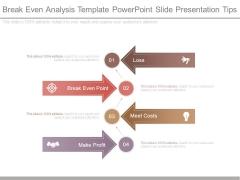 Break Even Analysis Template Powerpoint Slide Presentation Tips