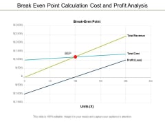 break even point calculation cost and profit analysis ppt powerpoint presentation outline graphics download