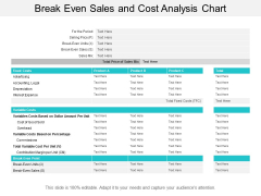 break even sales and cost analysis chart ppt powerpoint presentation gallery master slide