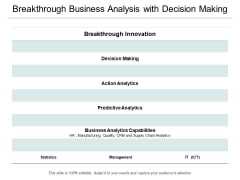 Breakthrough Business Analysis With Decision Making Ppt PowerPoint Presentation Professional Microsoft