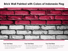 Brick Wall Painted With Colors Of Indonesia Flag Ppt PowerPoint Presentation File Visuals PDF