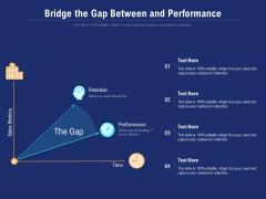 Bridge The Gap Between And Performance Ppt PowerPoint Presentation Show Topics PDF