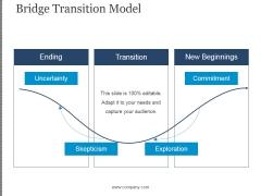 Bridge Transition Model Template 1 Ppt PowerPoint Presentation Ideas