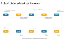 Brief History About The Company Ppt File Guidelines PDF