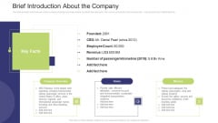 Brief Introduction About The Company Introduction PDF
