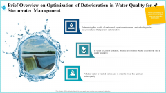 Brief Overview On Optimization Of Deterioration In Water Quality For Stormwater Management Graphics PDF