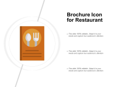 Brochure Icon For Restaurant Ppt PowerPoint Presentation Show Visual Aids