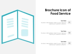 Brochure Icon Of Food Service Ppt PowerPoint Presentation Layouts Elements PDF