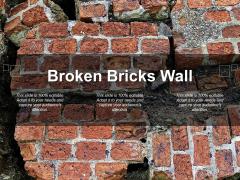 Broken Bricks Wall Ppt PowerPoint Presentation File Influencers
