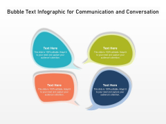 Bubble Text Infographic For Communication And Conversation Ppt PowerPoint Presentation File Graphics Design PDF