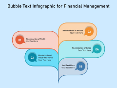 Bubble Text Infographic For Financial Management Ppt PowerPoint Presentation Gallery Example Introduction PDF