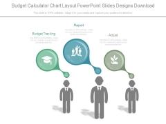Budget Calculator Chart Layout Powerpoint Slides Designs Download