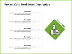 Budget Cost Project Plan Project Cost Breakdown Description Ppt Ideas Graphics PDF