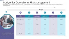 Budget For Operational Risk Management Ppt PowerPoint Presentation Icon Layout Ideas PDF