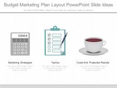 Budget Marketing Plan Layout Powerpoint Slide Ideas