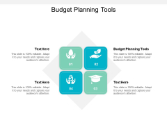Budget Planning Tools Ppt PowerPoint Presentation Summary Example Cpb
