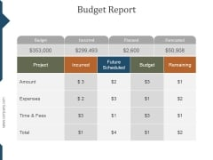 Budget Report Ppt PowerPoint Presentation Clipart