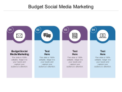 Budget Social Media Marketing Ppt PowerPoint Presentation Portfolio Visual Aids Cpb Pdf