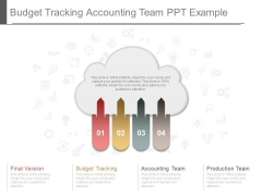Budget Tracking Accounting Team Ppt Example