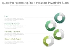 Budgeting Forecasting And Forecasting Powerpoint Slides