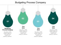 Budgeting Process Company Ppt Powerpoint Presentation Portfolio Clipart Cpb