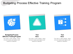 Budgeting Process Effective Training Program Ppt PowerPoint Presentation Inspiration Clipart Cpb