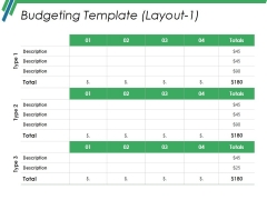 Budgeting Template 1 Ppt PowerPoint Presentation Infographic Template Layouts