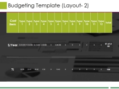 Budgeting Template 1 Ppt PowerPoint Presentation Inspiration