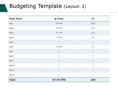 Budgeting Template 1 Ppt PowerPoint Presentation Show Background