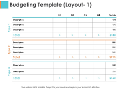 Budgeting Template Layout 1 Sample Budget Ppt Ppt PowerPoint Presentation Show Structure