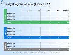 Budgeting Template Layout Business Ppt Powerpoint Presentation Infographic Template Deck