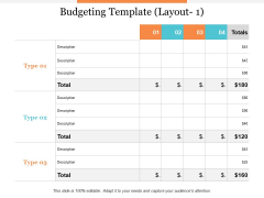 Budgeting Template Layout Ppt PowerPoint Presentation Summary Professional