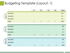 Budgeting Template Ppt PowerPoint Presentation Show Template