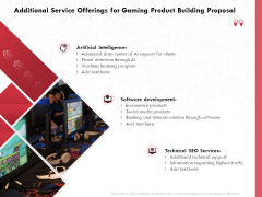 Build A Gaming Computer Additional Service Offerings For Gaming Product Building Proposal Sample PDF