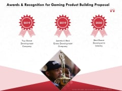 Build A Gaming Computer Awards And Recognition For Gaming Product Building Proposal Inspiration PDF