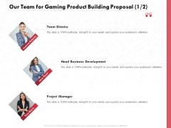 Build A Gaming Computer Our Team For Gaming Product Building Proposal Teamwork Guidelines PDF