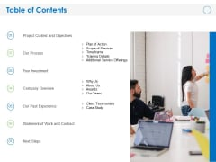 Build Effective On The Job Training Program Table Of Contents Ppt PowerPoint Presentation Model Graphics Design PDF