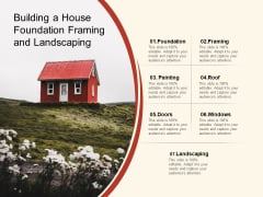 Building A House Foundation Framing And Landscaping Ppt PowerPoint Presentation Infographic Template Smartart