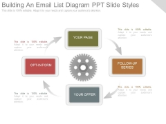 Building An Email List Diagram Ppt Slide Styles