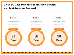 Building Assembly Conservation Solutions 30 60 90 Days Plan For Construction Services And Maintenance Mockup PDF
