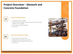 Building Assembly Conservation Solutions Project Overview Sitework And Concrete Foundation Pictures PDF
